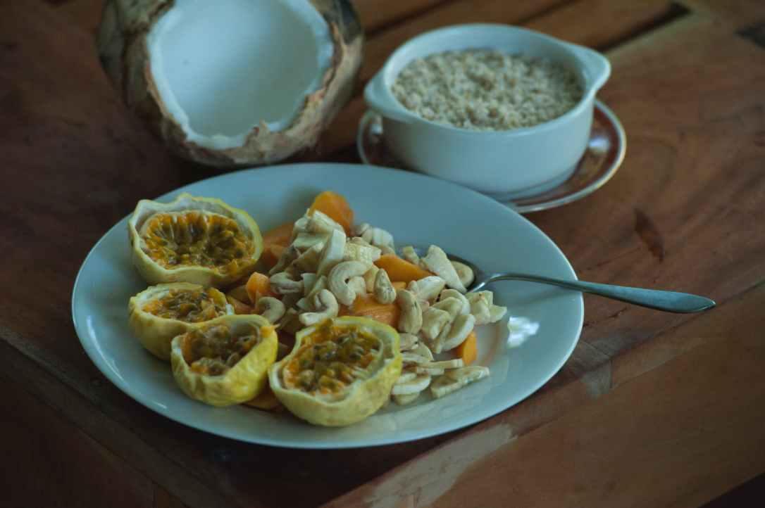 bowl breakfast cashew coconut