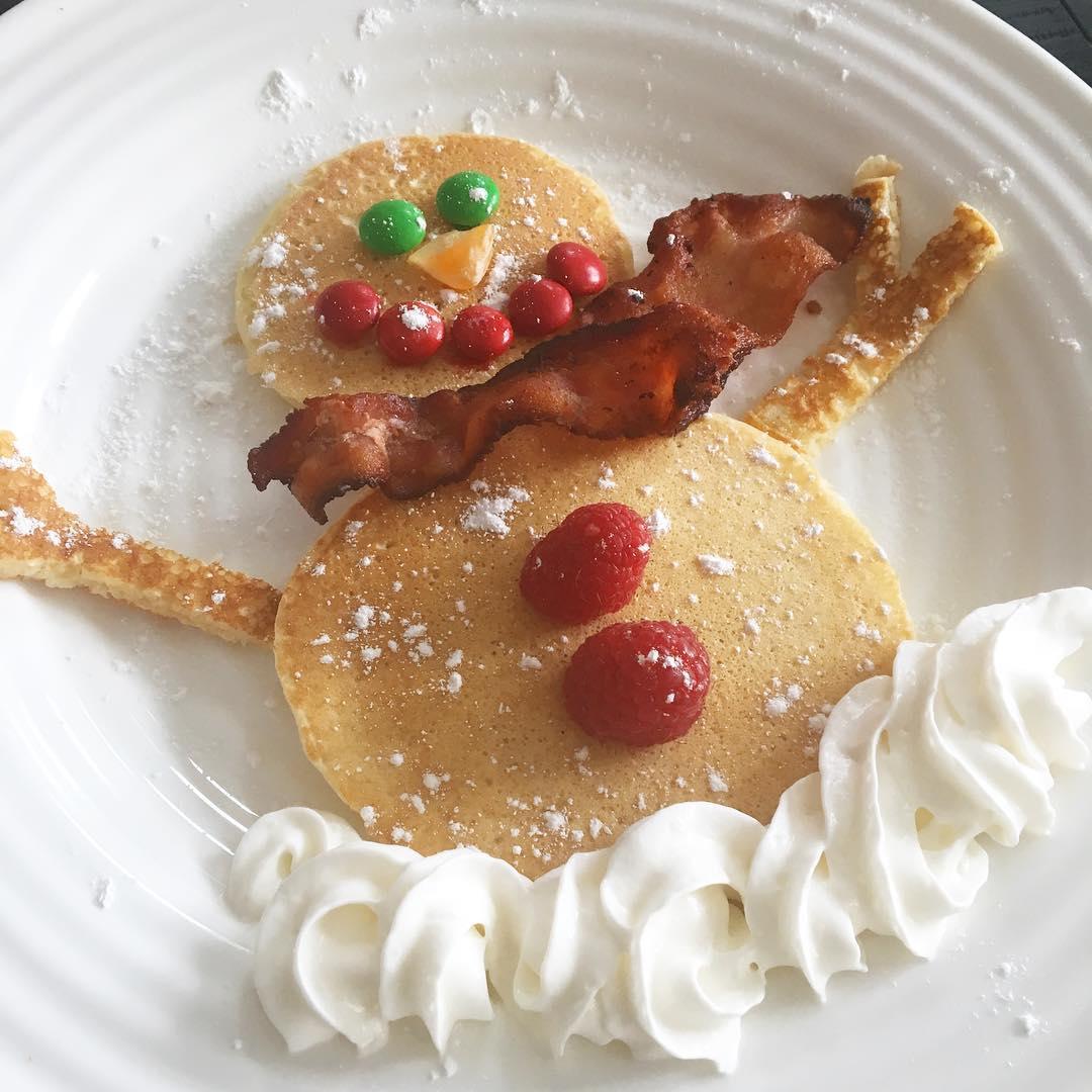 Snowman-Pancakes